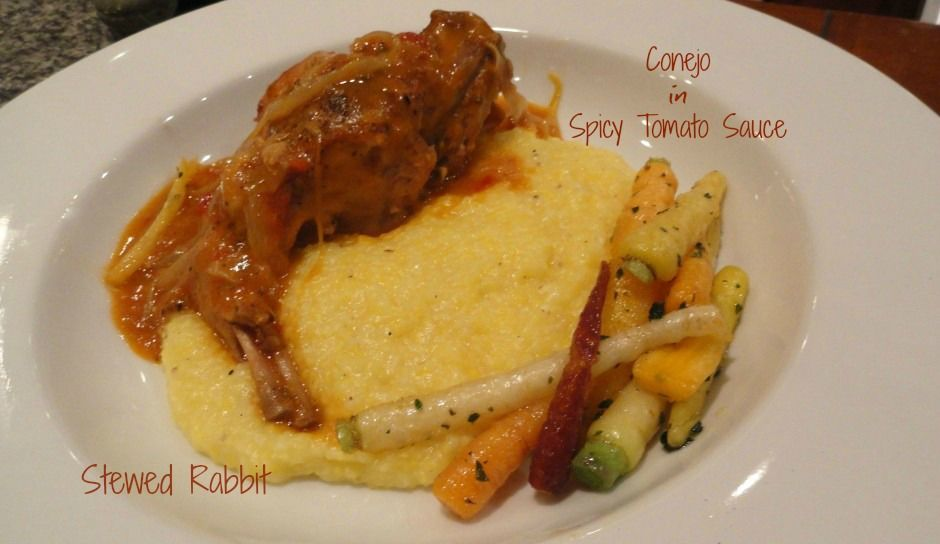 This recipe for Stewed Rabbit or Conejo in Spicy Tomato Sauce boasts rich and flavorful sauce with falling off the bone tender moist rabbit