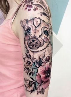 b97e89bd979cc Chinese Zodiac pig t Cartoon Tattoos, Pig Tattoos, Animal Tattoos, Flower  Tattoos,