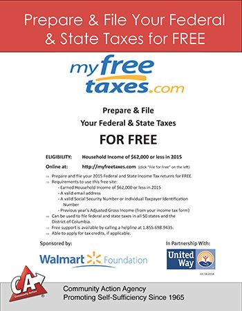 Prepare  File Your Taxes for FREE at myfreetaxes What\u0027s