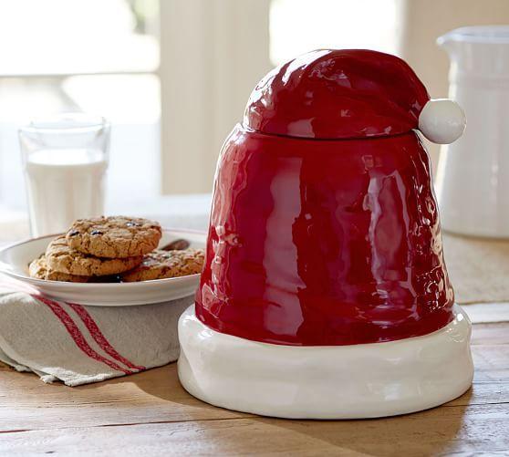 Santa Hat Cookie Jar Pottery Barn Ho Ho Ho Pinterest Cookie