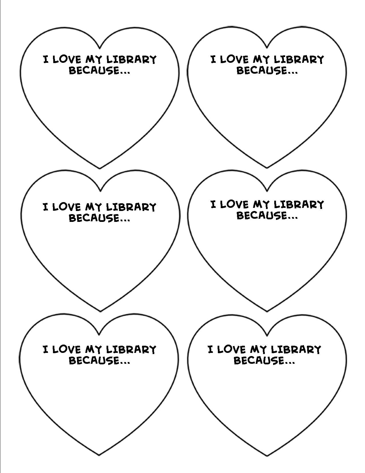 I Love My Library Because Template