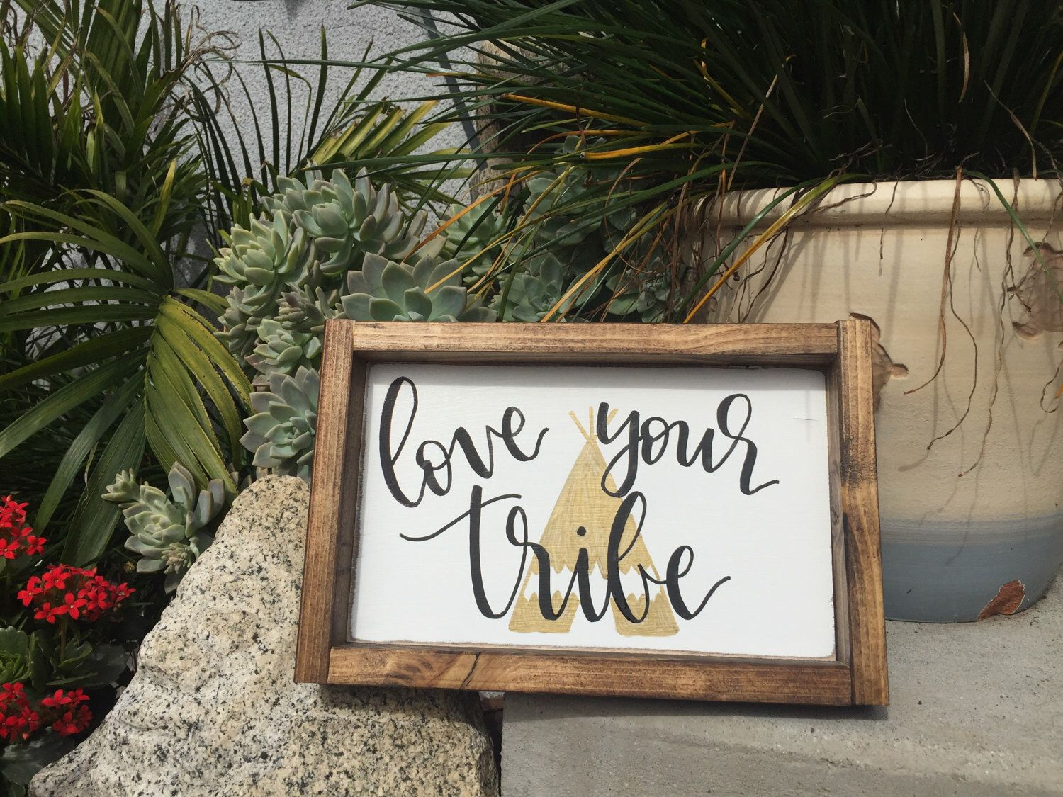 Love Your Tribe Sign, Framed Wood Sign, Rustic Love Your Tribe Sign, Wood Tribe Sign by TheSandyFarmhouse on Etsy https://www.etsy.com/listing/502613636/love-your-tribe-sign-framed-wood-sign
