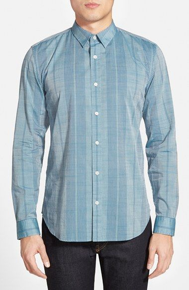 Men's 7 For All Mankind Trim Fit Stripe Sport Shirt