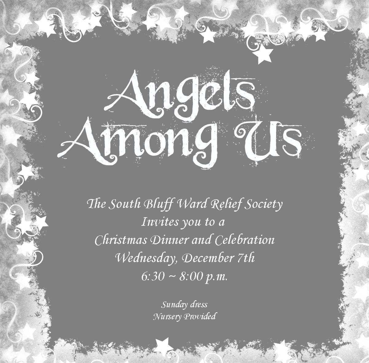 Lds Ward Christmas Party Program Ideas Part - 41: RS Christmas Party- Angels Among Us