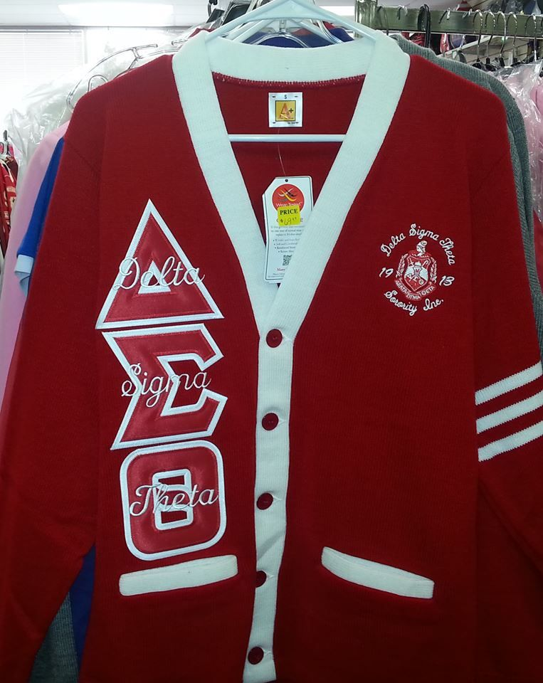 Delta Sigma Theta Cardigan Red And White Dst Delta Sigma Theta