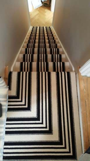 Portfolio Carpets Black And White Stripe Stairs And