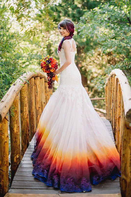 This Awesome Bride Made Her Entire Wedding Match Her Rainbow Hair