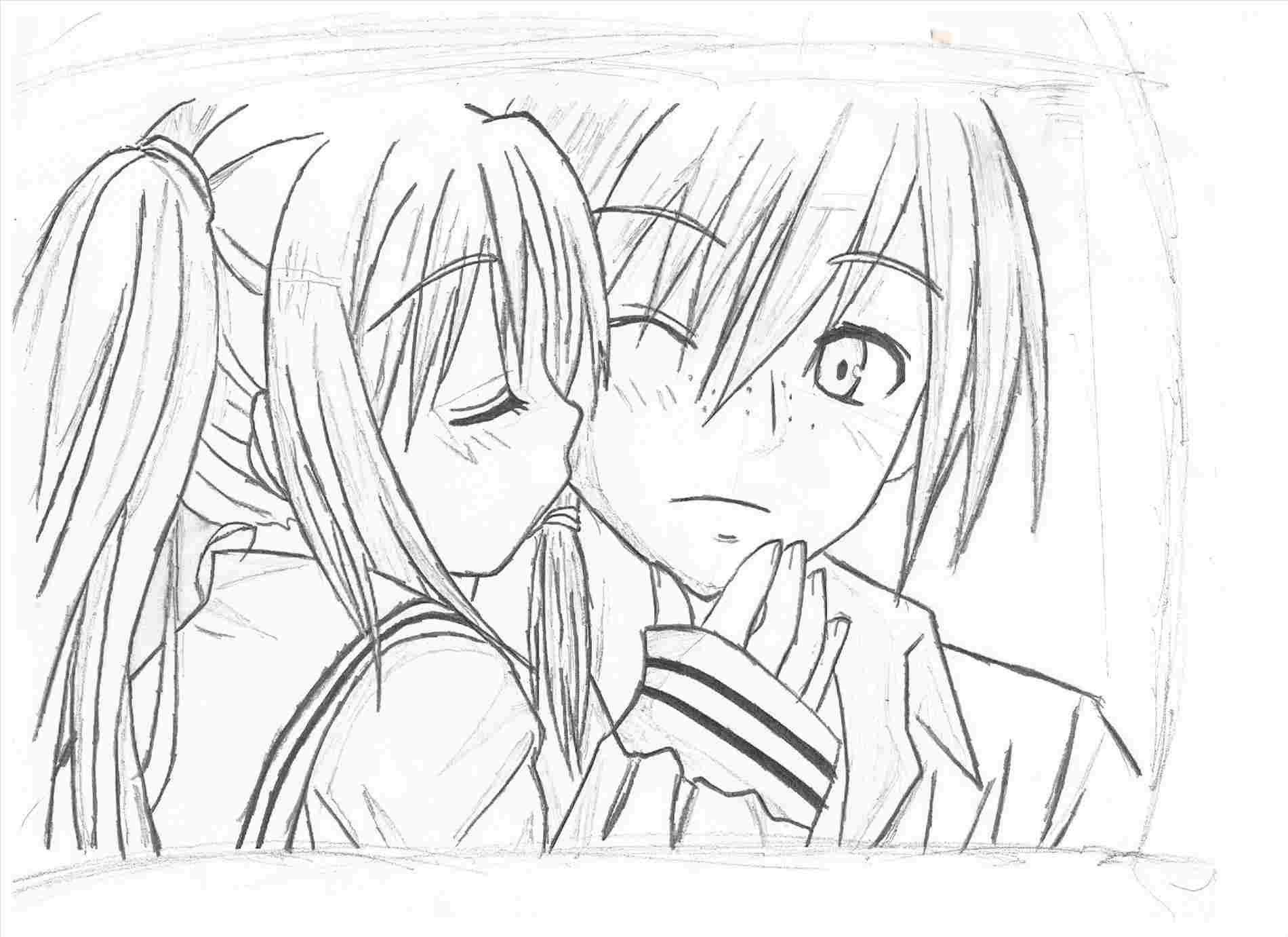 Unique Boy And Girl Kiss In Bed Anime Boy And Girl Drawing Boy Drawing Cartoon Drawings