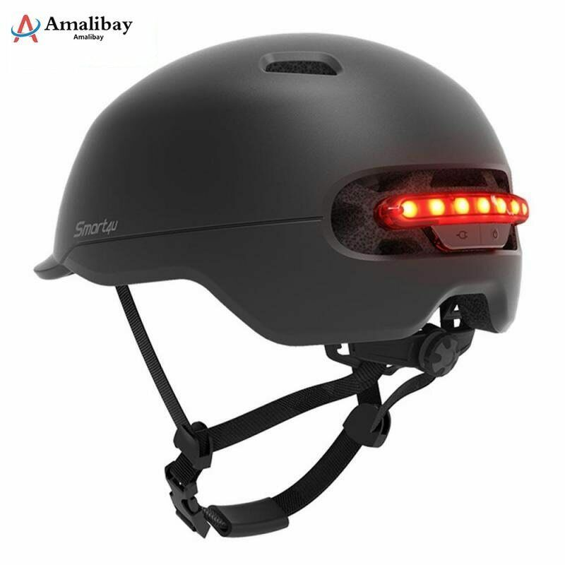 Electric Scooter Safety Helmet With Warning Light For Pro Scooter