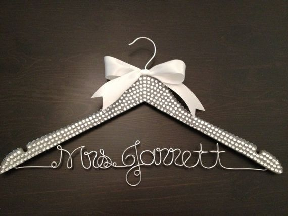 Bling Wedding Hanger Bridal Hanger Personalized Hanger Brides
