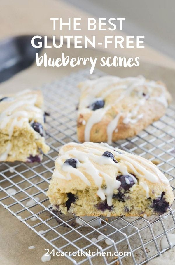 GlutenFree Blueberry Scones firm exteriors with soft flaky interiors bursting with blueberries Dont forget the super simple glaze Definitely PIN for later