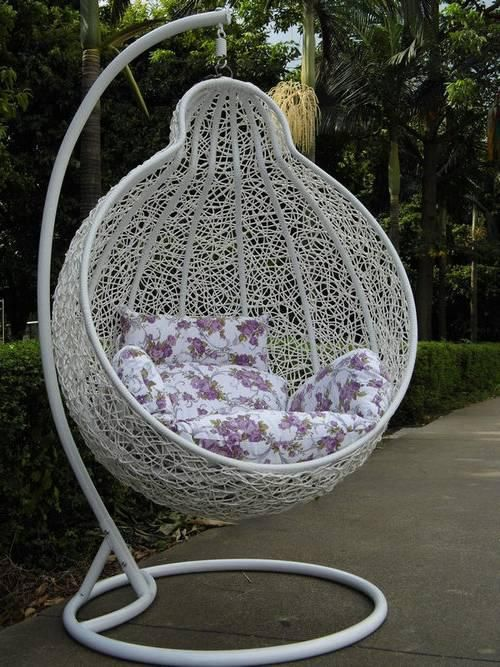Steel Rattan Hanging Chair,Gourd Shape Size:130*101*70;