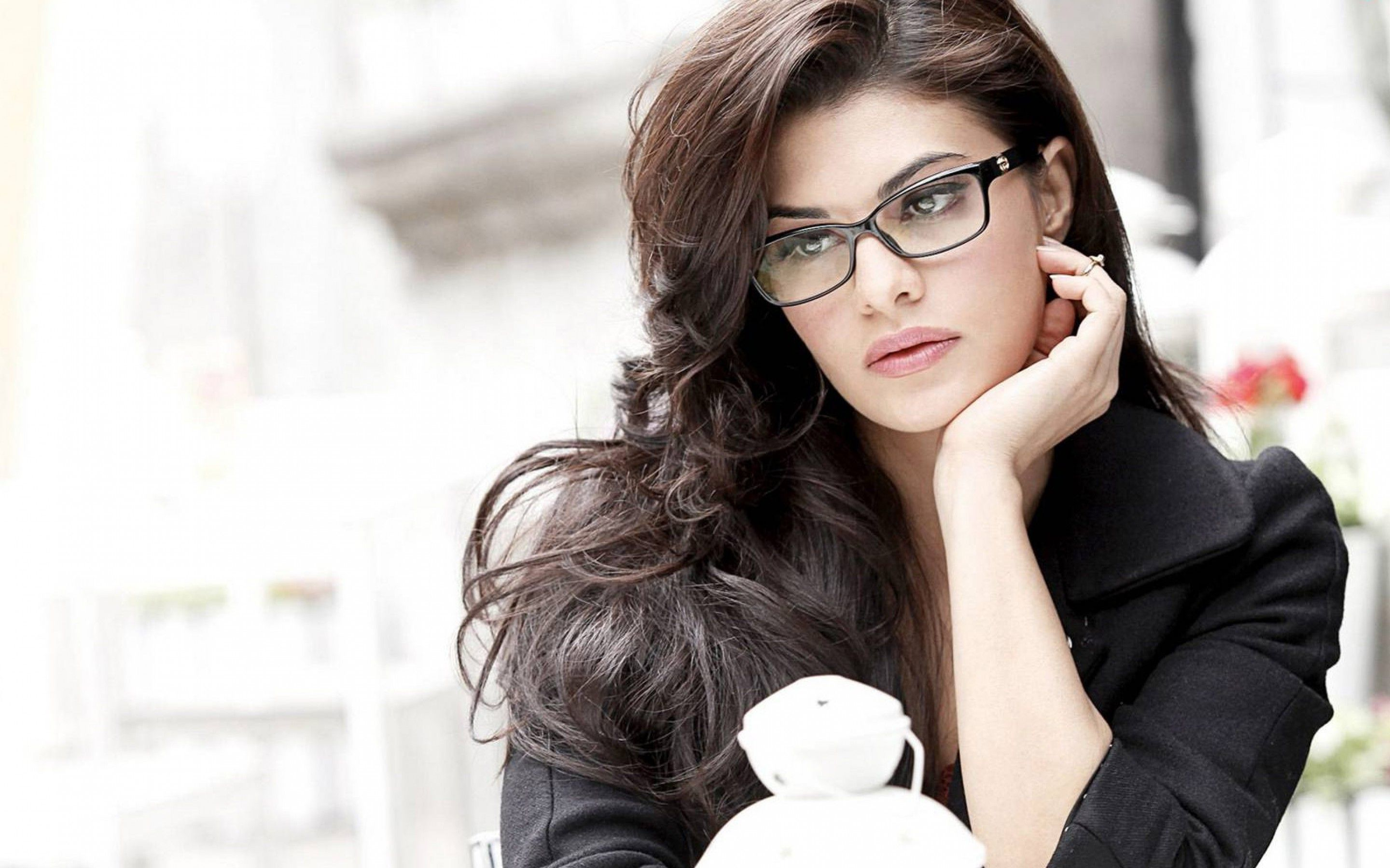 jacqueline fernandez glasses widescreen wallpaper 51840 | glasses