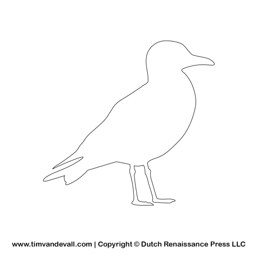 Seagull Outline Template  Vbs    Outlines Template