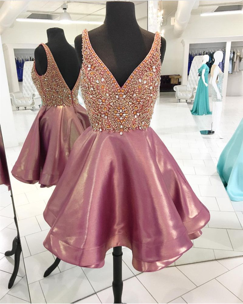 Amazing crystal beaded homecoming dressso perfect for th grade