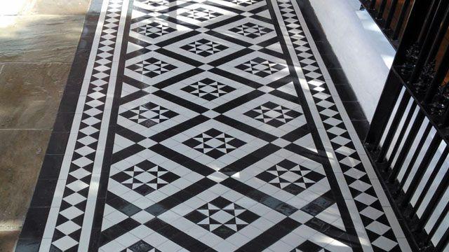 London Mosaic Willesden Design Victorian Floor Tiles Porch Tile Geometric Floor Tiles London