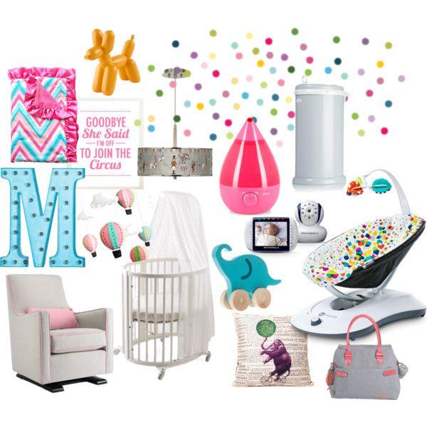 Baby Girl Pink and Aqua Circus Nursery - babymobel design idee stokke permafrost