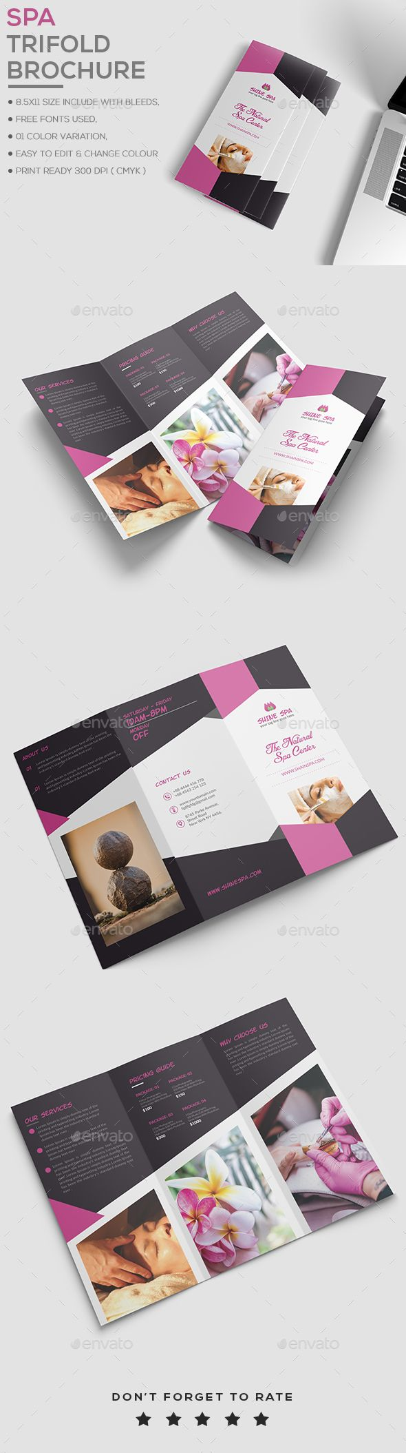 Spa Brochure Template  Brochure Template Brochures And Template