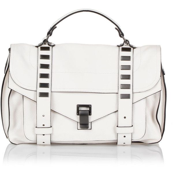 Proenza Schouler Leather Studded Medium Buffalo Handbag 610 Liked On Polyvore Featuring Bags