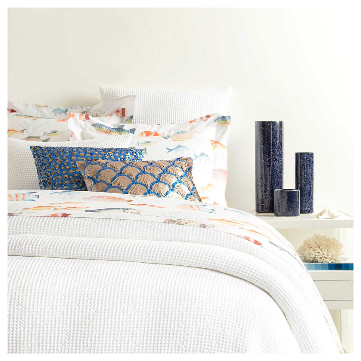 Bubble White Matelassé Coverlet Pine Cone Hill