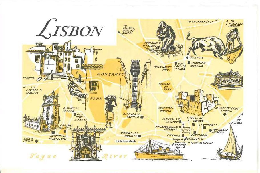 Lisbon City Map Print / Colorful Map Decor / City of Lisbon Portugal ...