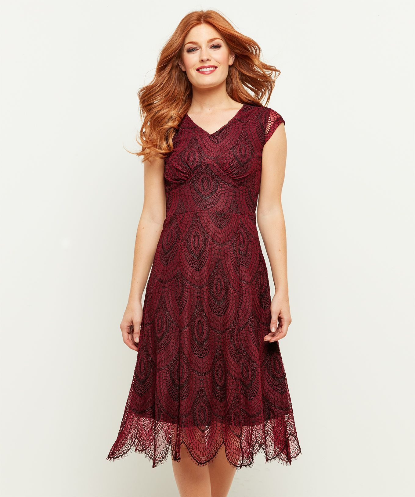 Romantic Lace Dress Fall In Love With This Decadent Lace Dress Perfect For Twirling On The Dancefloor This Christmas T Red Dress Women Dresses Womens Dresses