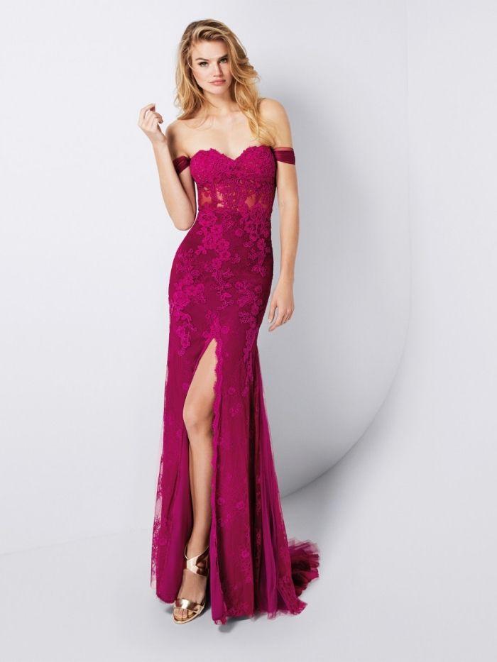 Robe de soiree chic et glamour rose
