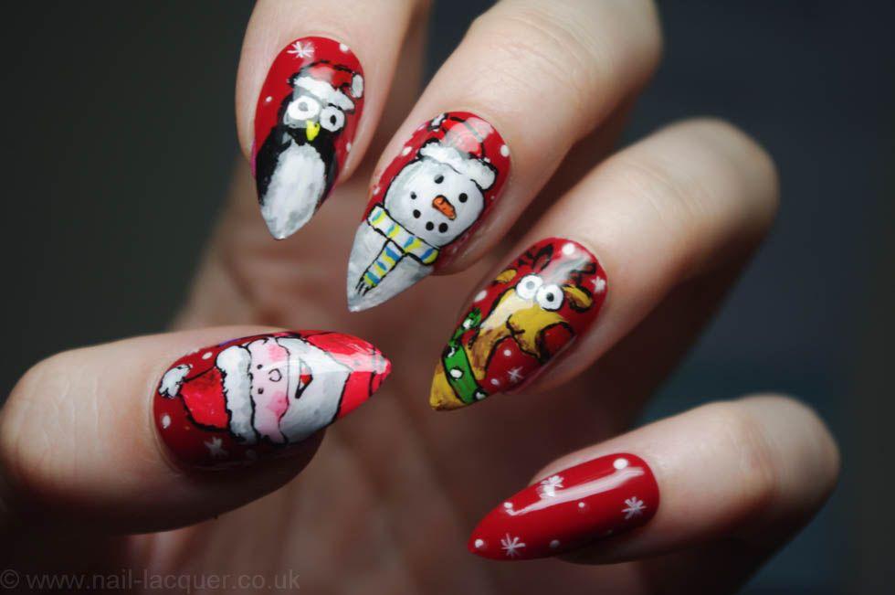 Christmas Nail Art Nail Lacquer Nail Designs Pinterest Nail