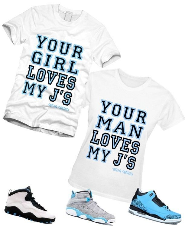 ba4ee3485316 MEN WOMEN LOVES MY JS T-Shirt to Match Air Jordan 6 RINGS 10 Retro Powder  Blue 3
