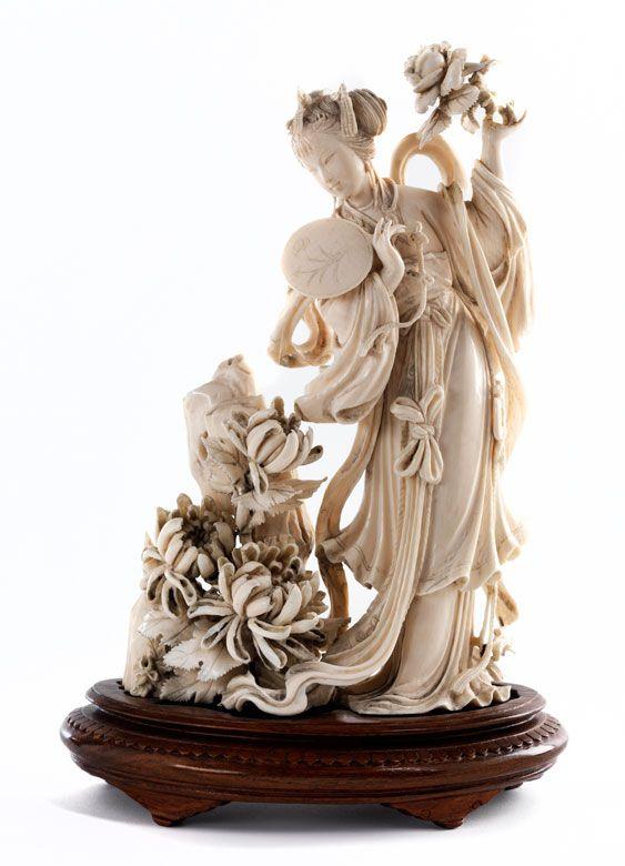Chinese ivory figure.