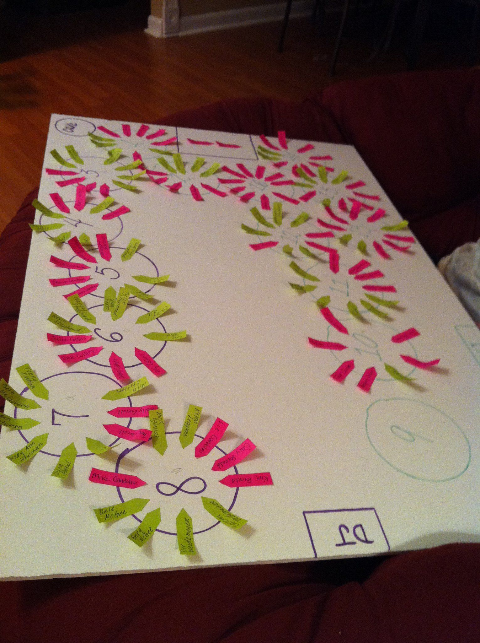 Fun Organized And Easy Way To Do A Seating Chart