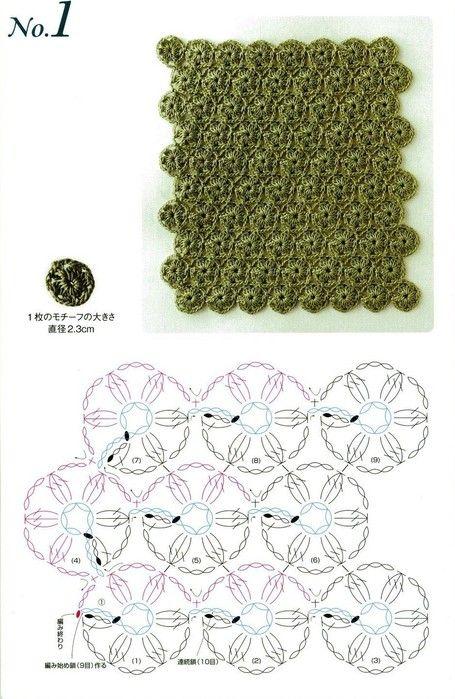 Bonitos puntos en crochet con patrones | Crochet, Yarns and Patterns