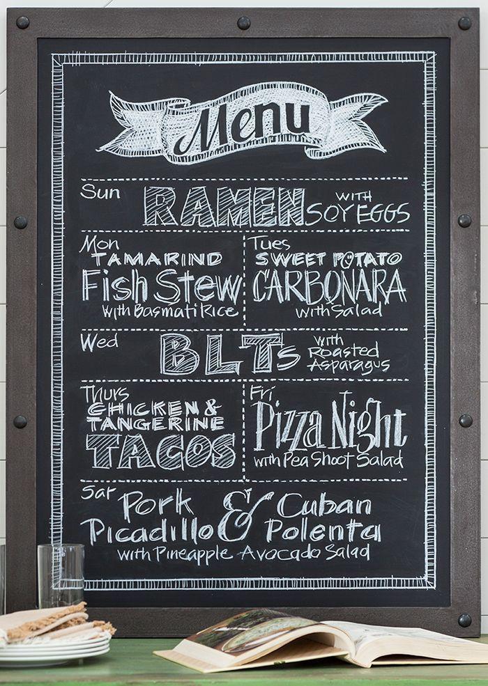 Home Design Ideas Blackboard: Blackboard Menu, Chalk Menu, Kitchen