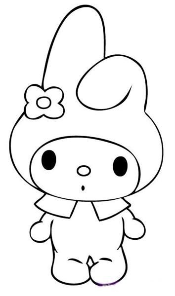 Hello Kitty Melody Coloring Pages : My melody coloring pages pinterest