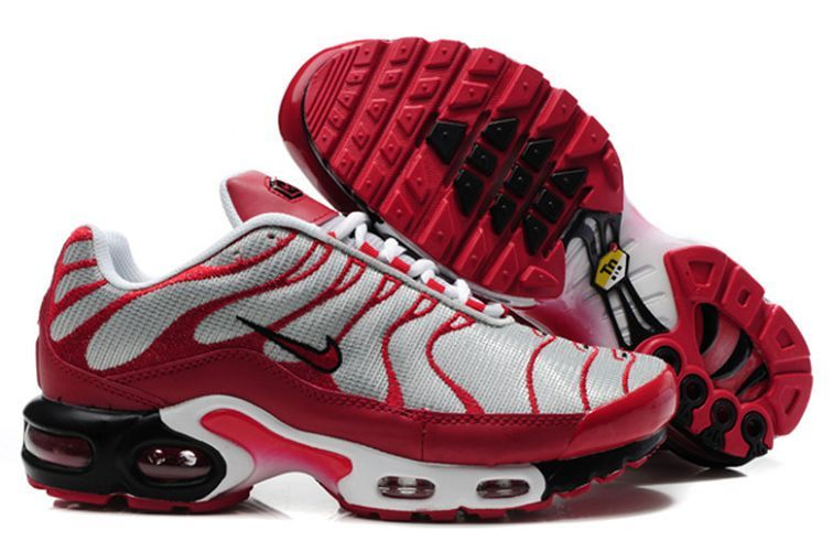 f1efad8236ef Nike Air Max Plus + Metallic Silver Team Red Available UK Sale ...