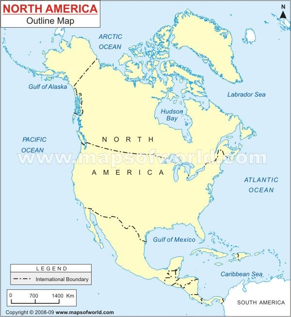 North America Outline map | Homeschooling | Pinterest | Outlines