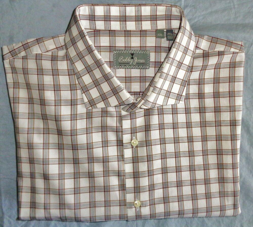 84fd22d2da64 Mint BOBBY JONES Men's TROPHY COLLECTION Plaid Sport Shirt ($245) XXL  Sharp! #