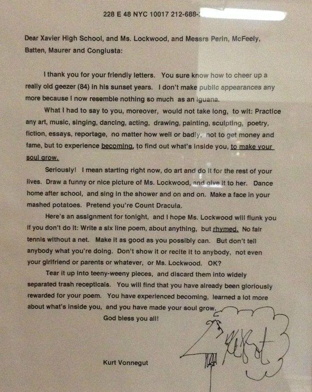 the most hilarious and shocking moments in literary history and this response from kurt vonnegut to a high school s request to him