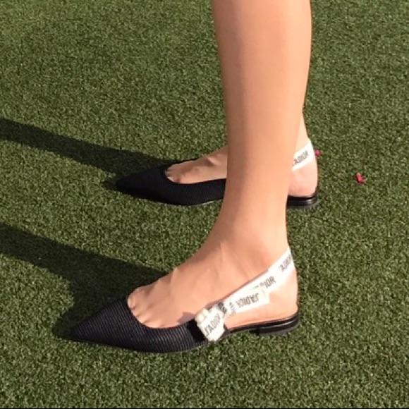 Dior J'adior slingback flats Sz 34.5
