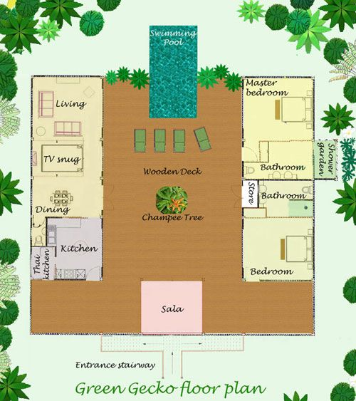 Villa Floor Plan of Green Gecko reception layout ace table
