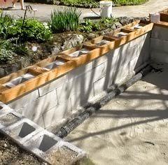Concrete Block Pond Building Ponds Backyard Building A Pond