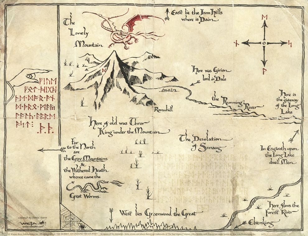 Risultati immagini per the hobbit new map | wedding | Middle earth on