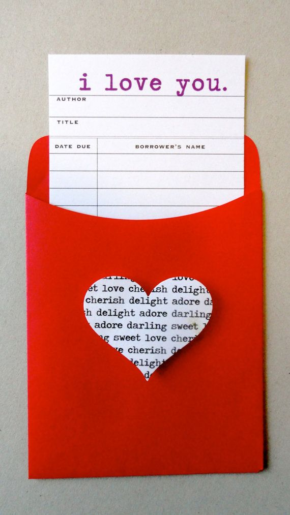 I Love You Library Card Inspirational Cards Love Cards Valentines Cards