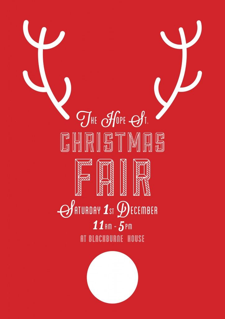 Beautiful Christmas Party Poster Ideas Part - 11: Kin™ - The Hope St Christmas Fair
