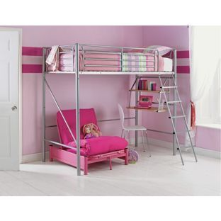 Sit N Sleep Metal High Sleeper Bed Frame Pink Futon At Argos Co Uk Your Online For Children S Beds