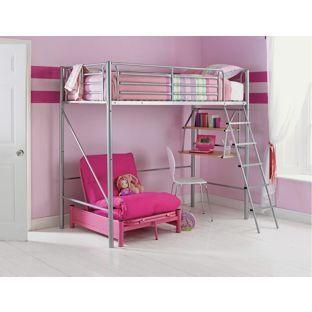 buy sit  u0027n sleep metal high sleeper bed frame   pink futon at argos  buy sit  u0027n sleep metal high sleeper bed frame   pink futon at      rh   pinterest