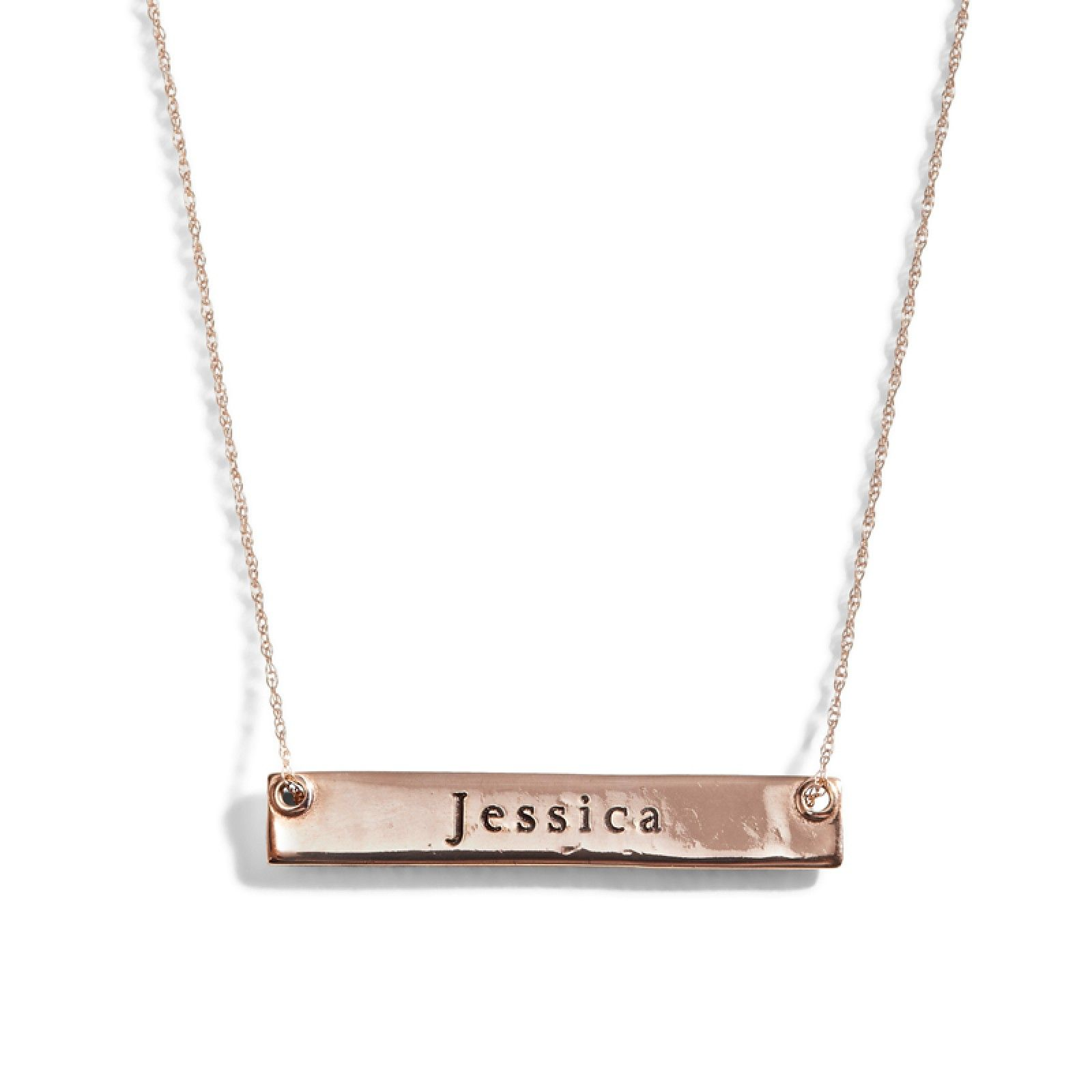 Demi Gold Bar Nameplate Necklace Three Sisters Jewelry Personalized Gold Necklace Nameplate Necklace