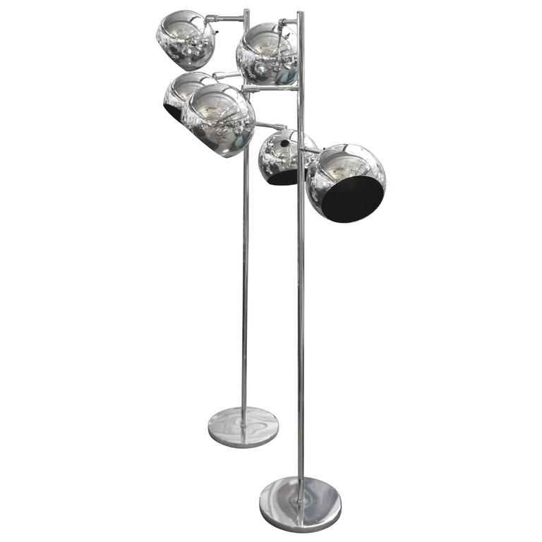 Pair of Koch and Lowy Multi Head Floor Lamps | From a unique collection of antique and modern floor lamps at https://www.1stdibs.com/furniture/lighting/floor-lamps/