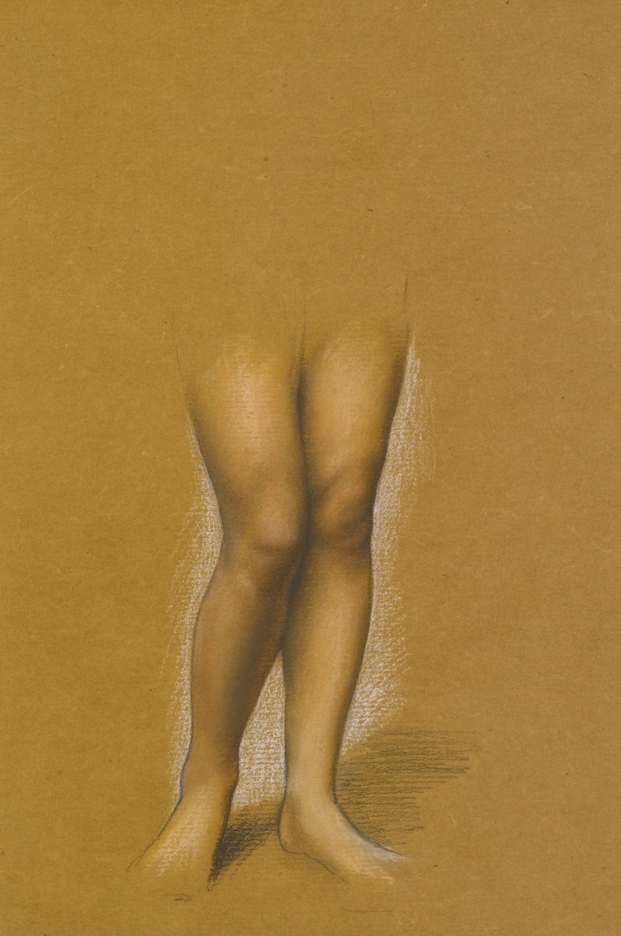 Evelyn De Morgan English  Study of a pair of legs