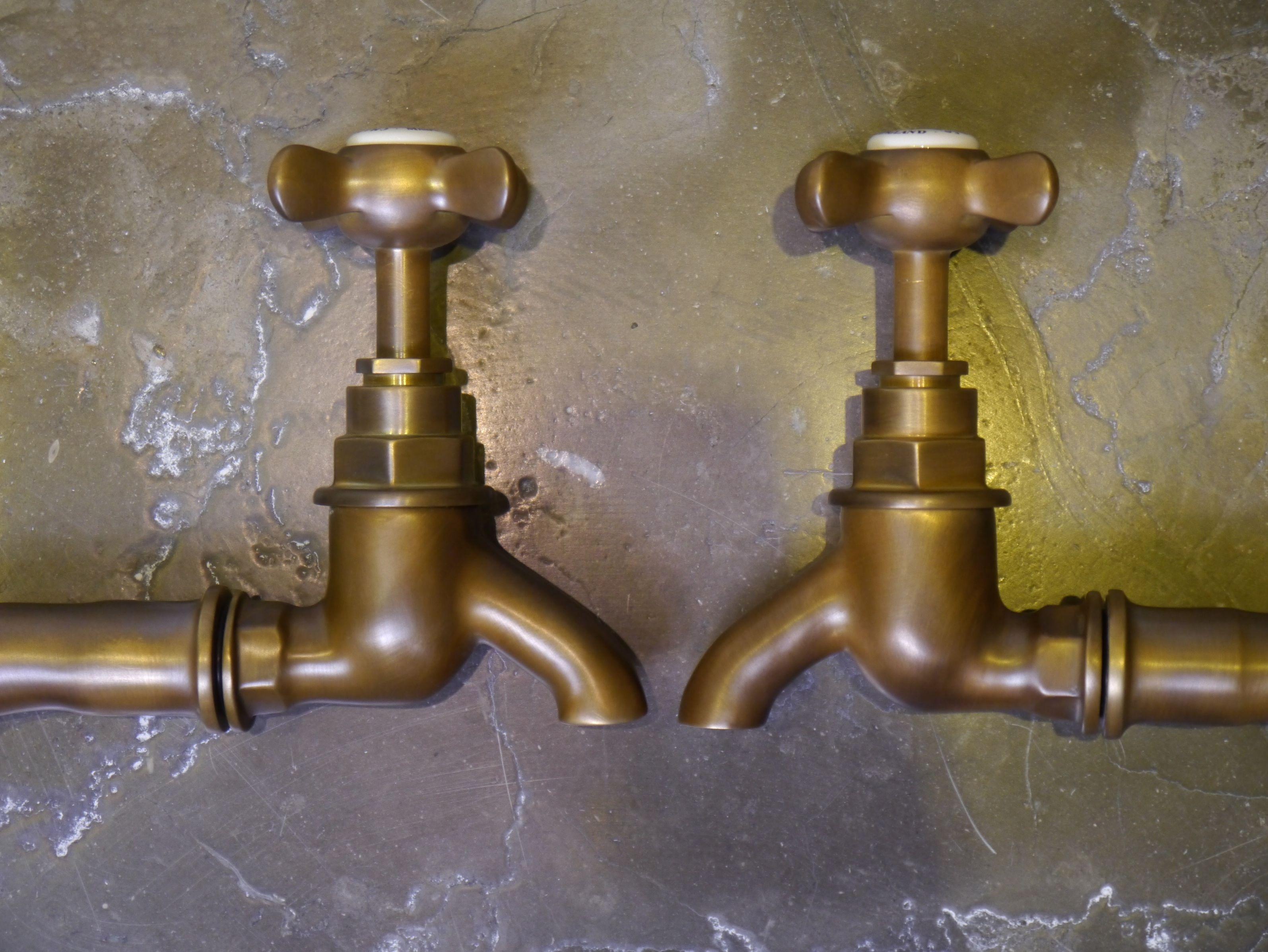 weathered brass brushed brass antique brass bib taps chadder amp cos bib taps: perrin rowe lifestyle